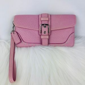 Coach Womens Pink Wristlet Purse 734-P